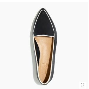 NIB J CREW leather loafers w pipings 6.5